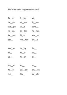Differenzierung Doppelkonsonanz