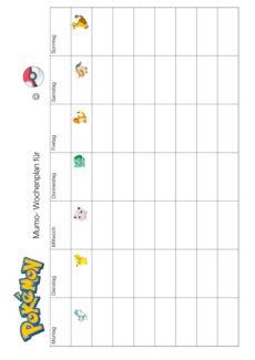 "MFT: Wochenplan ""Pokemon"""