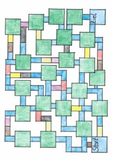 Spielfeld Labyrinth bunt
