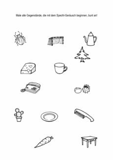 Hausaufgabenblätter [k] – [t] im Anlaut