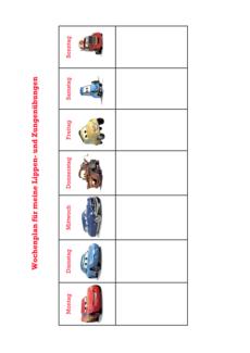 MFT Wochenplan Cars