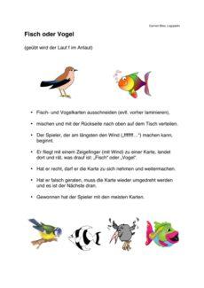 Spiel: Fisch oder Vogel – [f] im Anlaut