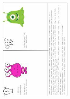 Differenzierungs-Hausaufgabe: K und T auf Silbenebene