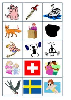 Spiel: Memory für Schetismus in Konsonantenverbindung
