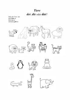 Genusmarkierung bei Tieren