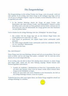 Kindgerechte Information zu Zungenruhelage und Mundschluss