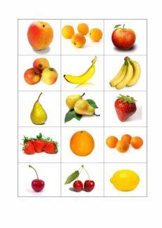 Singular und Plural im semantischen Feld Obst