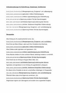 Übungen zur Kieferöffnung, Vokaleinsatz, Ventiltönchen (2)