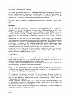 Kontext – Nationalpark Etosha
