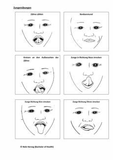 Myofunktionelle Therapie: Zungenübungen