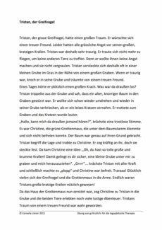 Leseübung für die Konsonantenverbindungen gr/kr/dr/tr