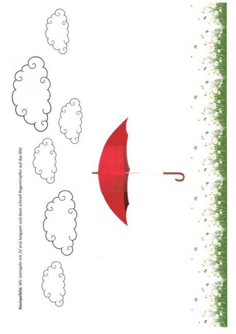 Regentropfen stempeln