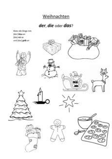 Genusmarkierungen zu Weihnachten