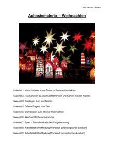 Aphasiematerial zum Thema Weihnachten
