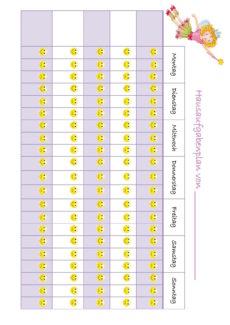 Hausaufgabenplan mit Lillifee