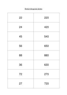 Ähnlich klingende Zahlen