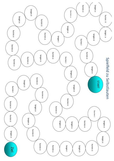 Spielfeld zu Vokalen