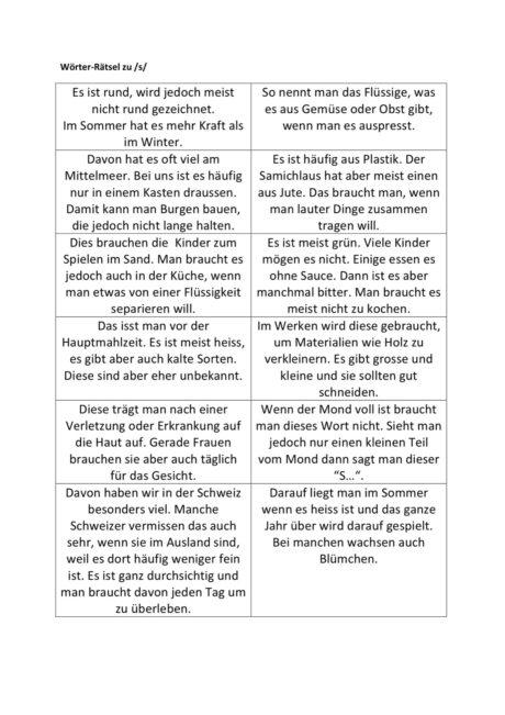 Wörter-Rätsel