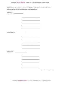 Anagramme und Begriffe zuordnen (4)